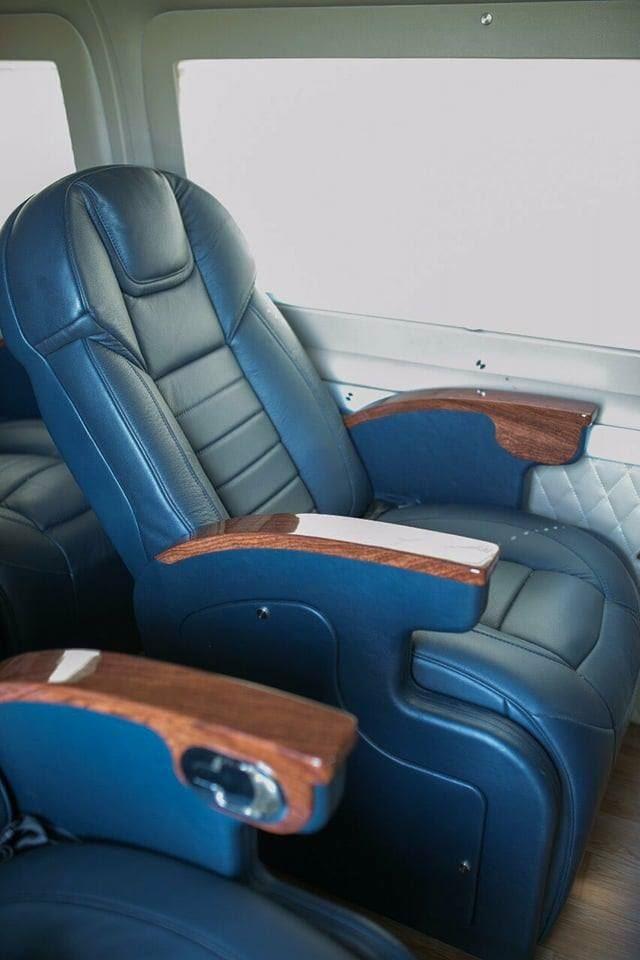 nội thất xanh 2 ghế VIP