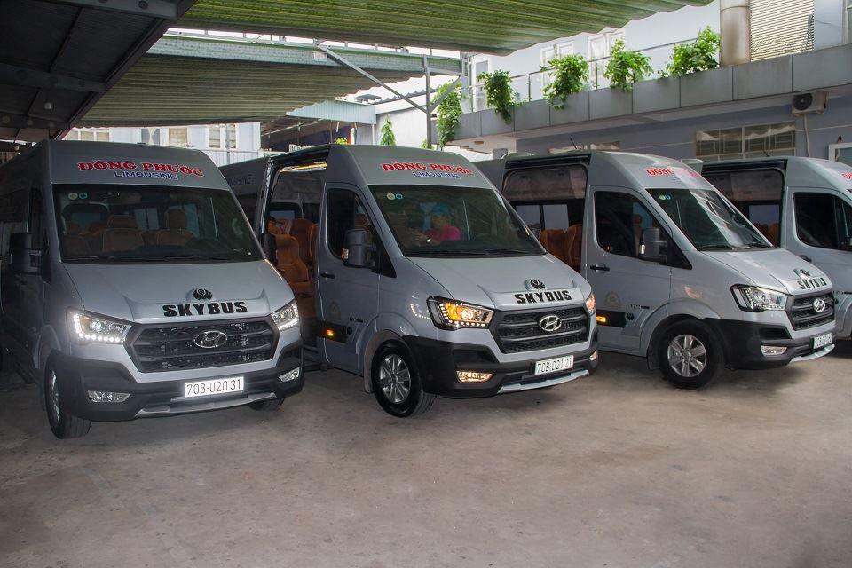 Quy trình độ xe limousine Skybus tại nhà máy Dasan