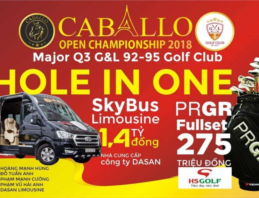 Dasan Limousine tài trợ xe SKYBUS cho giải Caballo Open Championship 2018