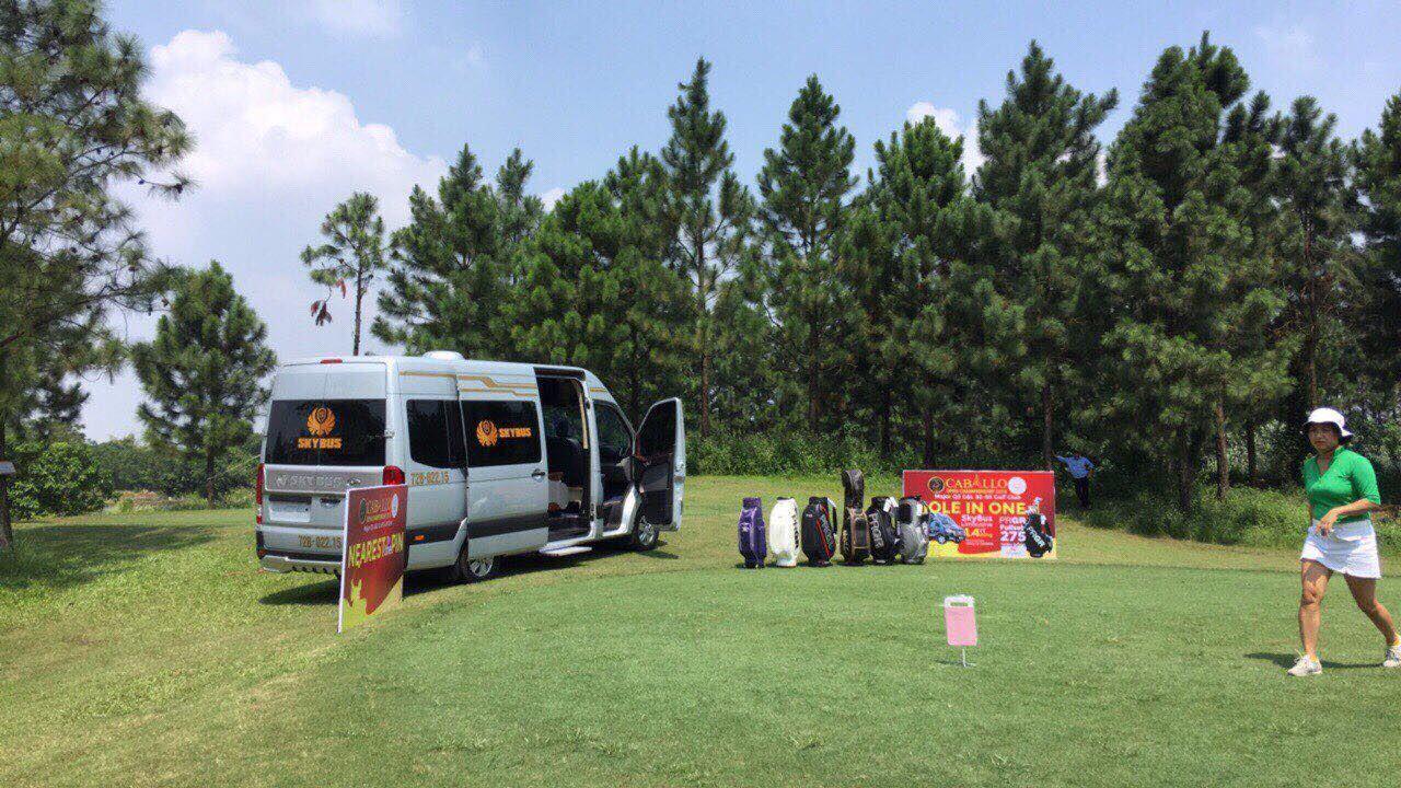 Xe SKYBUS Limousine của DASAN tài trợ HIO của giải Caballo Open Championship 2018