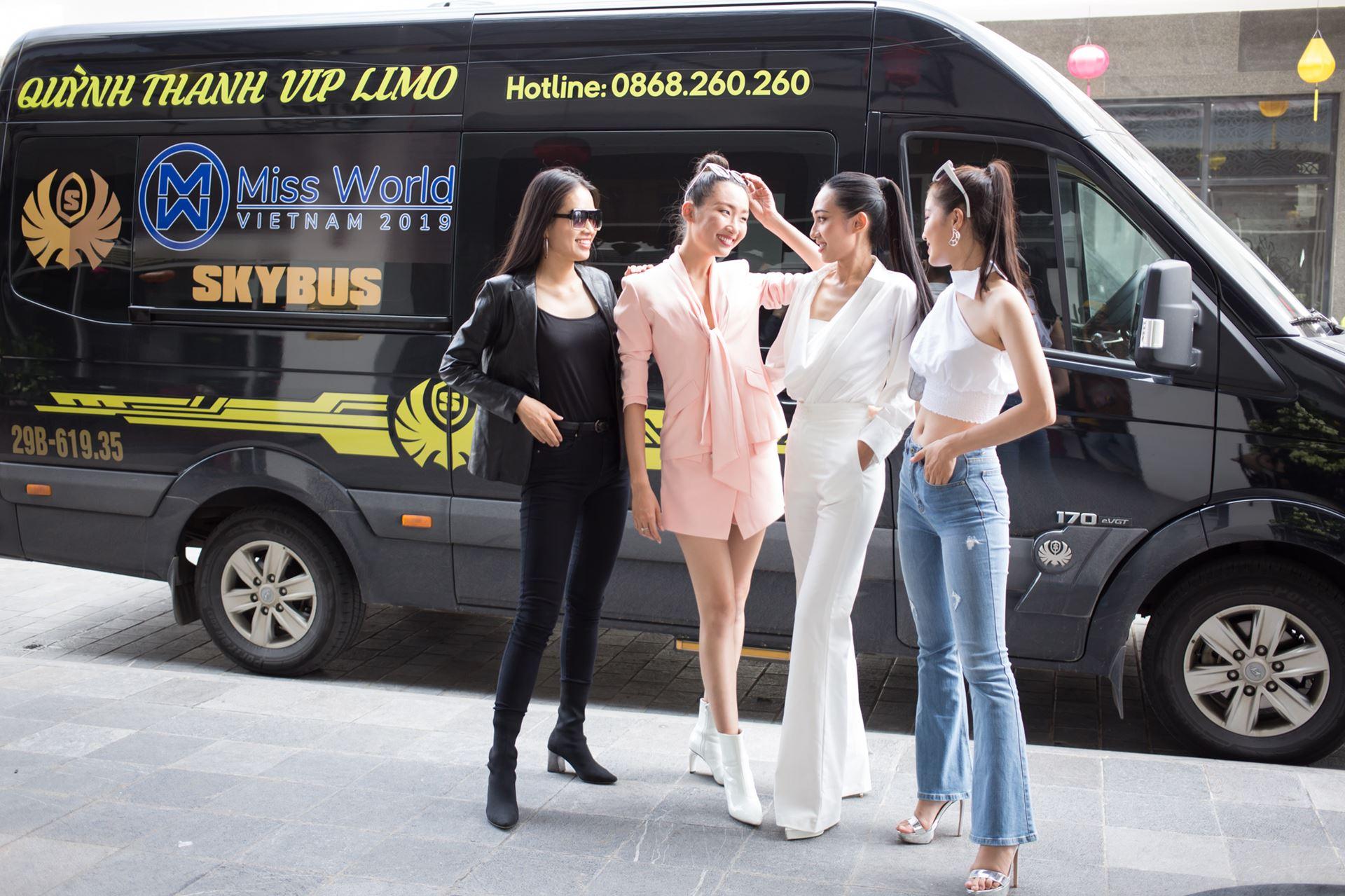 Xe limousine SKybus đồng hành cùng Miss World Việt Nam 2019